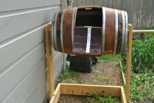 Wine Barrel Compost Station | 45 DIY Compost Bins To Make For Your Homestead