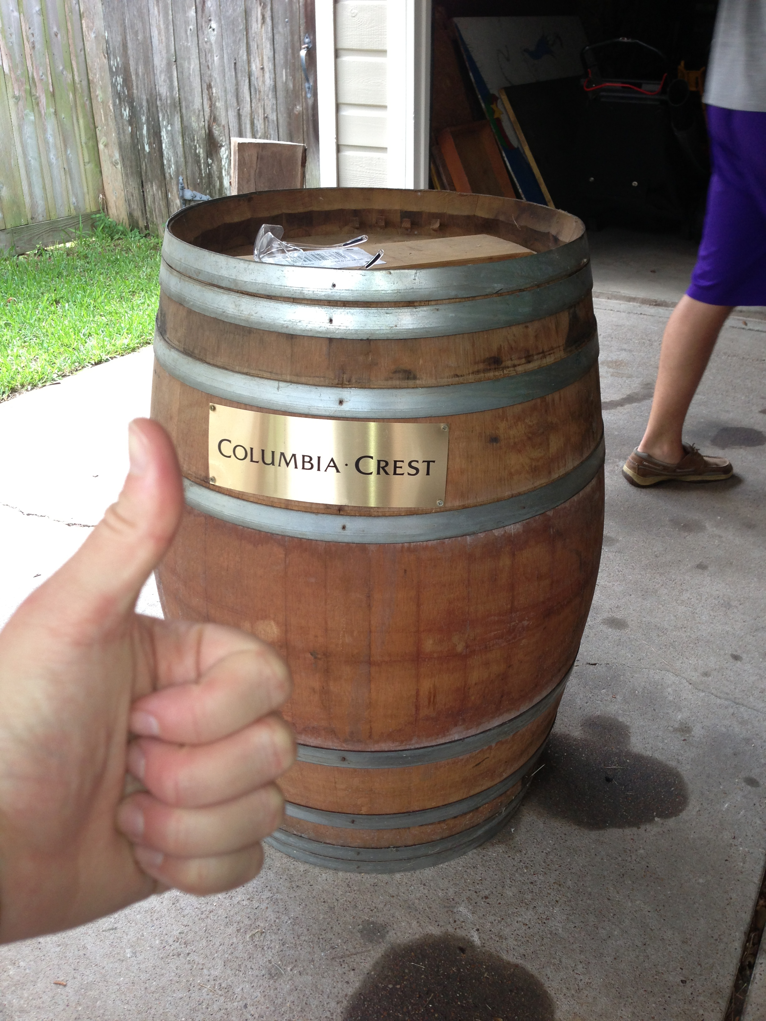The barrel intact and ready for modification.