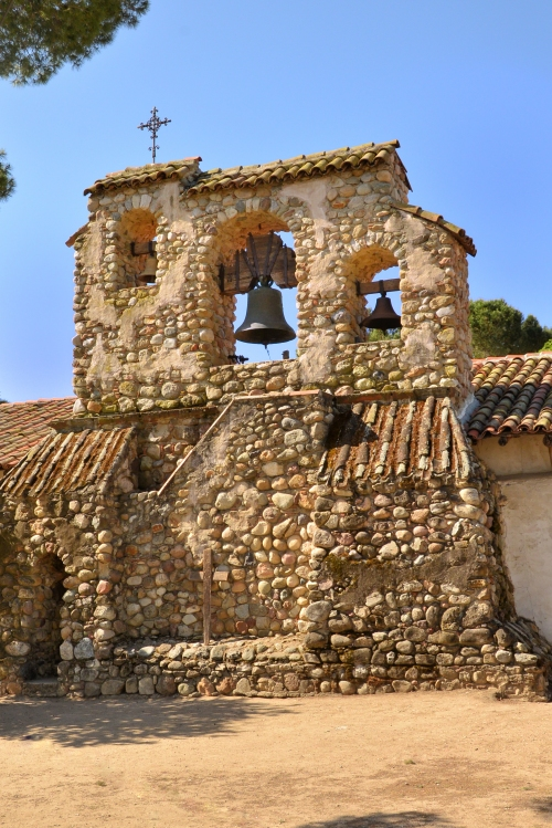 I just loved the look of the bell tower built form local rock.