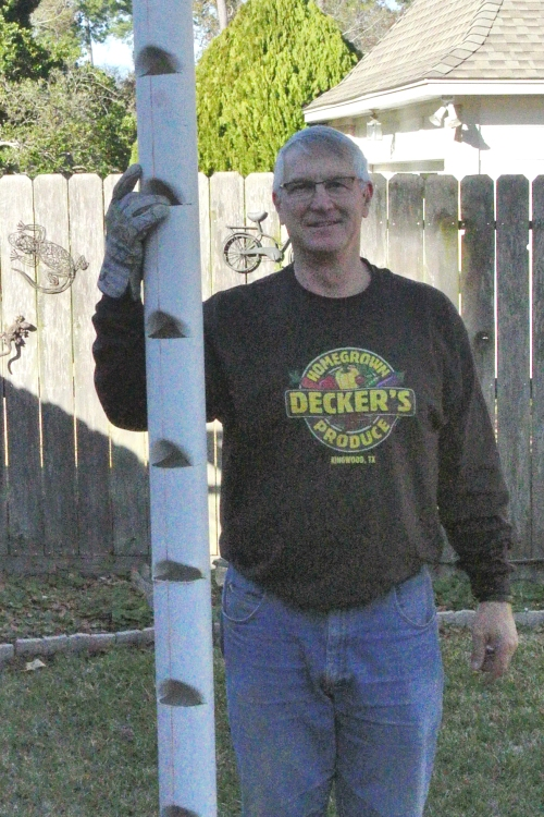 "Closer view with my Christmas t-shirt ""Decker's Homegrown Produce."
