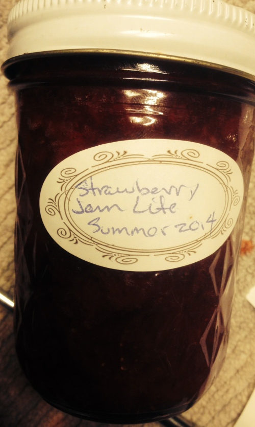An 8 ounce jar of my very good Strawberry Jam.