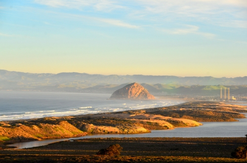 Another view of Morro Rock and a bit of the estuary.